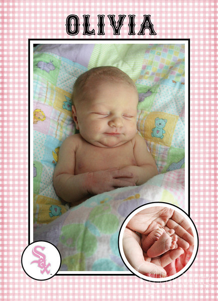 Olivia's Birth Announcement - Front