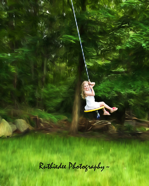 Chris's Family on swing impressionistic.jpg