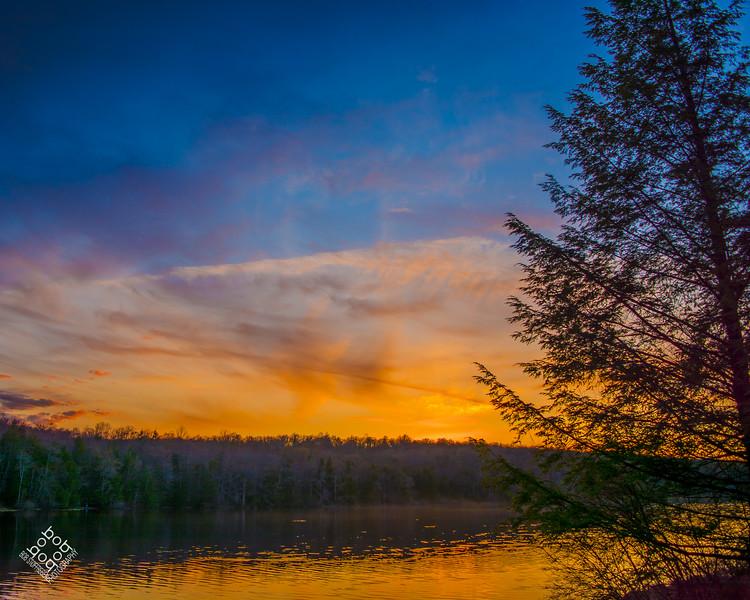 Hunters Lake Sunset
