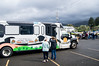The Tillamook Wave bus picks up passengers in Bay City, Oregon.