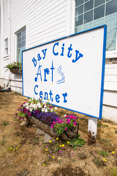 The Bay City Arts Center in Bay City, Oregon.