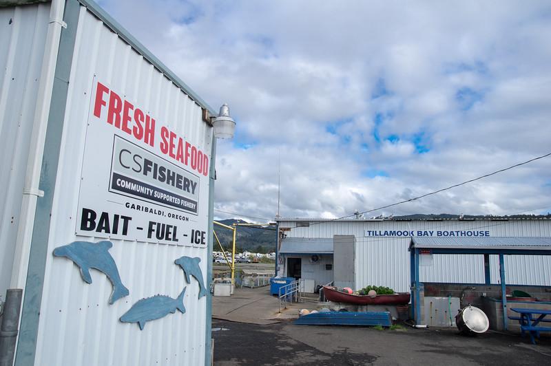 Community Supported FIshery at the Port of Garibaldi in Garibaldi, Oregon.