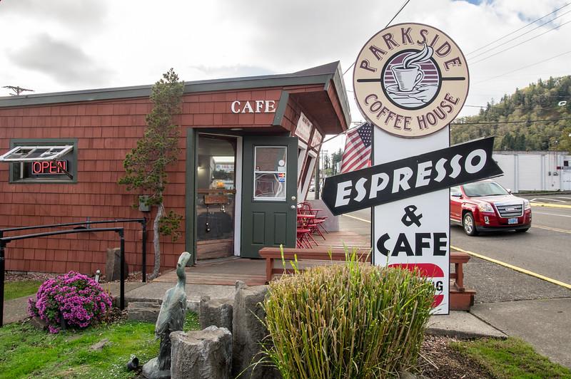 Parkside Coffeehouse in Garibaldi, Oregon.