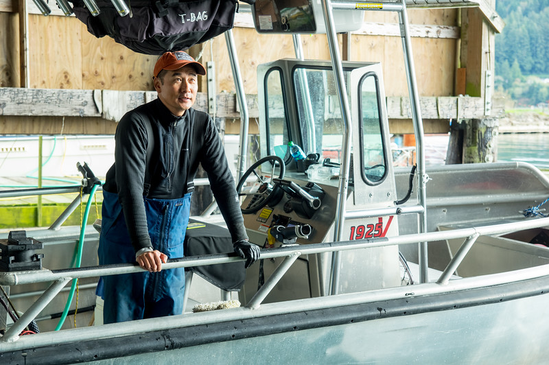 Jeff Wong of Community Supported Fishery at the Port of Garibaldi in Garibaldi, Oregon.