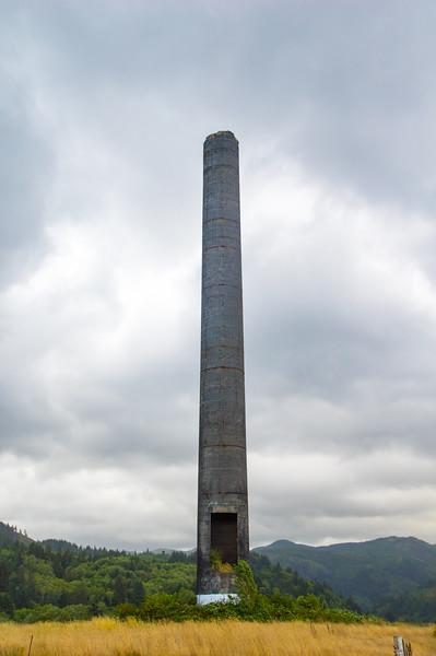 The old smokestack in Garibaldi, Oregon.