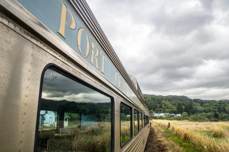 Port of Tillamook railroad car in Garibaldi, Oregon.