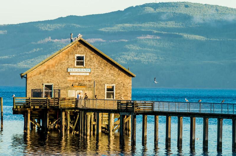 Pier's End Boathouse in Garibaldi, Oregon.