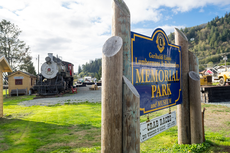 Lumbermen and Railroad Memorial Park in Garibaldi, Oregon.