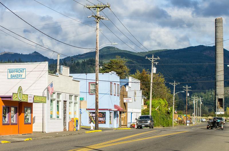 Downtown in Garibaldi, Oregon.