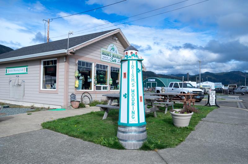 Irish's Mooring Cafe at the Port of Garibaldi in Garibaldi, Oregon.