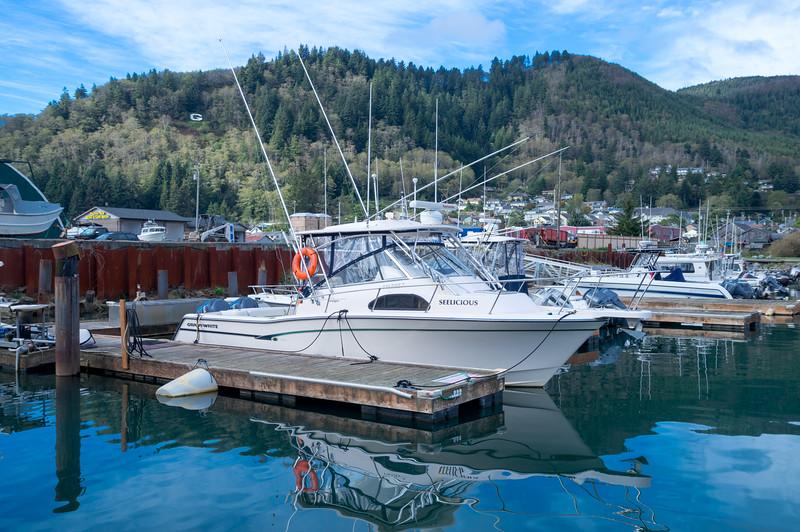 The Garibaldi Marina at the Port of Garibaldi in Garibaldi, Oregon.
