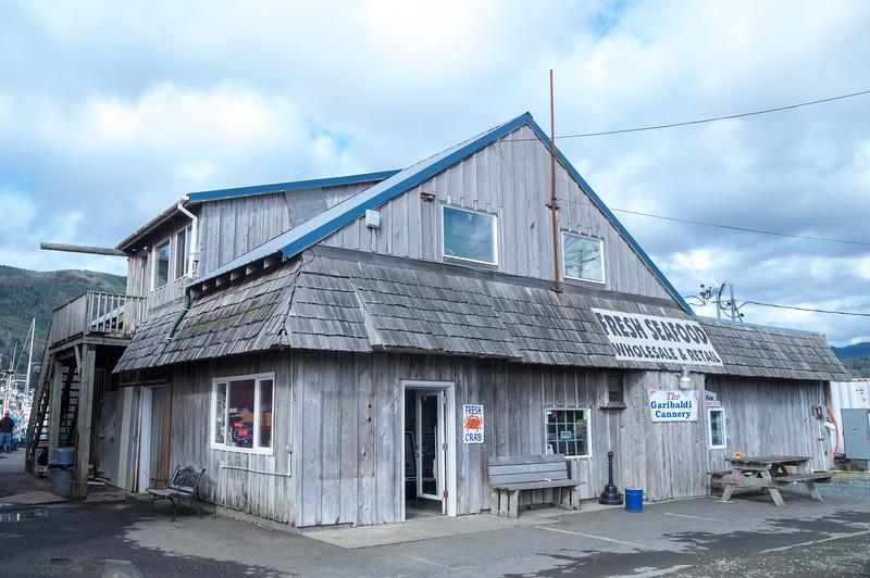 The Garibaldi Cannery at the Port of Garibaldi in Garibaldi, Oregon.