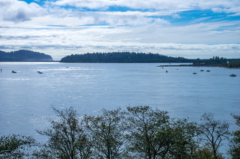 Tillamook Bay as viewed from Pirate's Cove Restaurant, Garibaldi, Oregon.