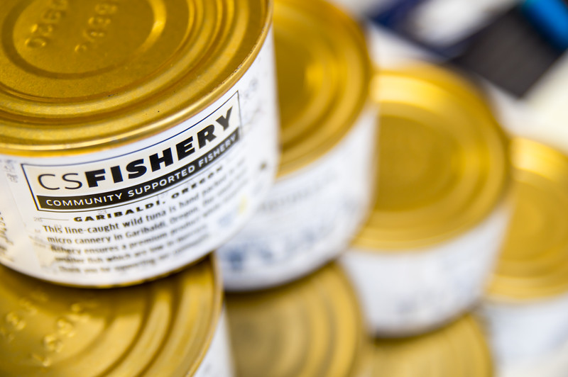 Canned Tuna from Community Supported Fishery in Garibaldi, Oregon.