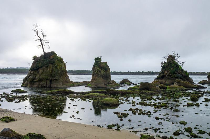 The Three Graces in the Nehalem Bay, near Garibaldi, Oregon.