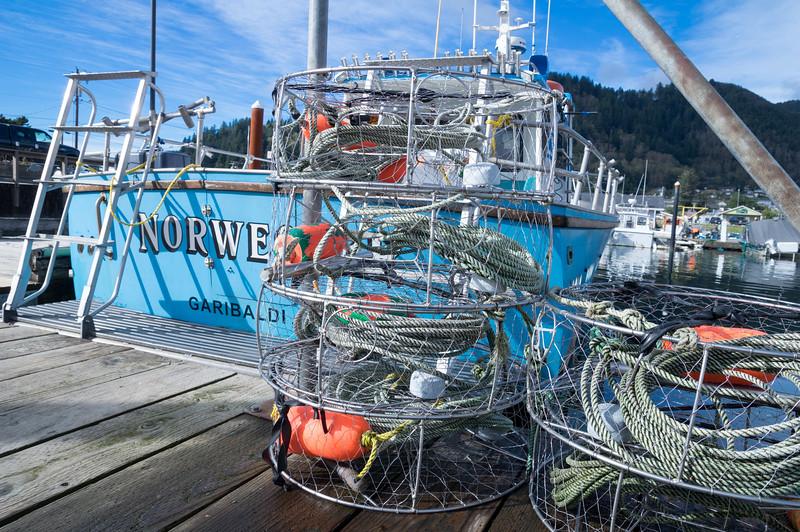 Charter boat in the Garibaldi Marina in Garibaldi, Oregon.