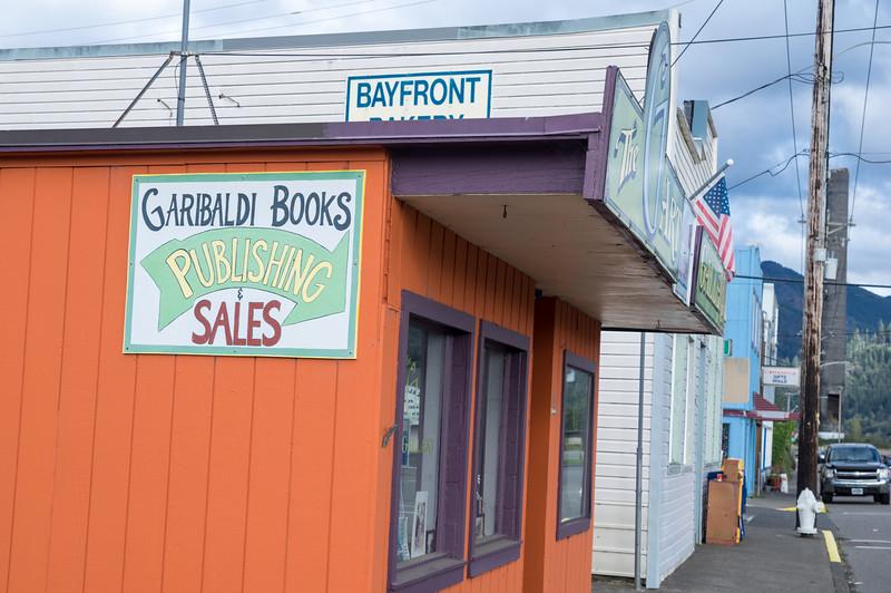 Garibaldi Book and The G Art in Garibaldi, Oregon.
