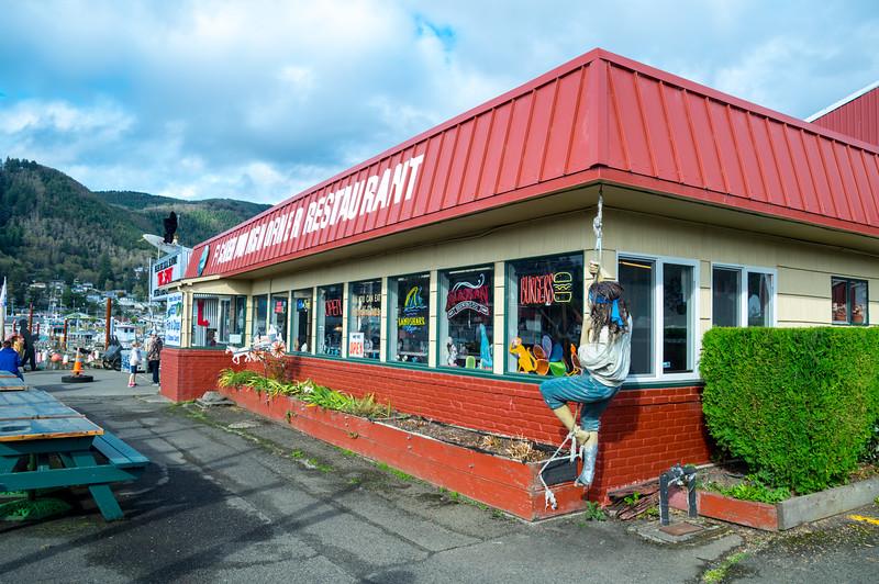 Fisherman's Korner Restaurant at the Port of Garibaldi in Garibaldi, Oregon.
