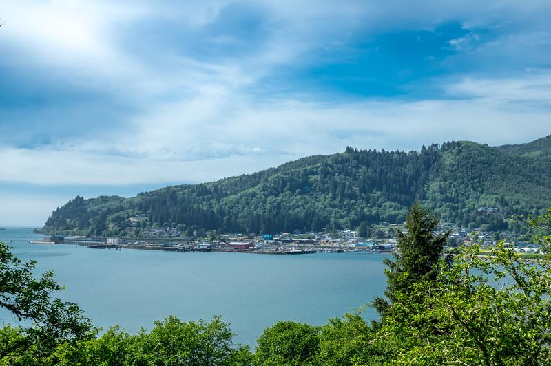 Garibaldi, Oregon, as viewed from Hobsonville Road in Bay City.