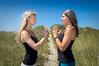 Katie Crosman and Charlene Gernert on Manzanita Beach, Oregon.