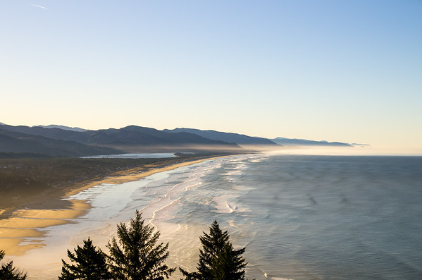 Looking down on Manzanita, Oregon.