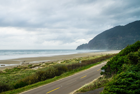 Manzanita Beach and NeahKahNie Mountain in Manzanita, Oregon.