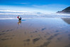Boy and Father Discover The Pacific Ocean at Manzanita Beach