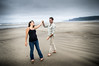 April Farmer and James Whitmore on Manzanita Beach, Oregon.