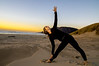 Kristin Franger practices yoga on Manzanita Beach, Manzanita, Oregon.