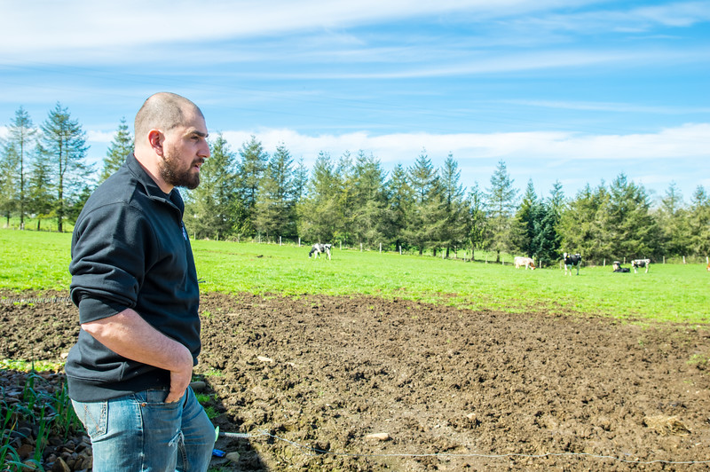 Levi Bennett at Bennett Family Farm in Tillamook, Oregon