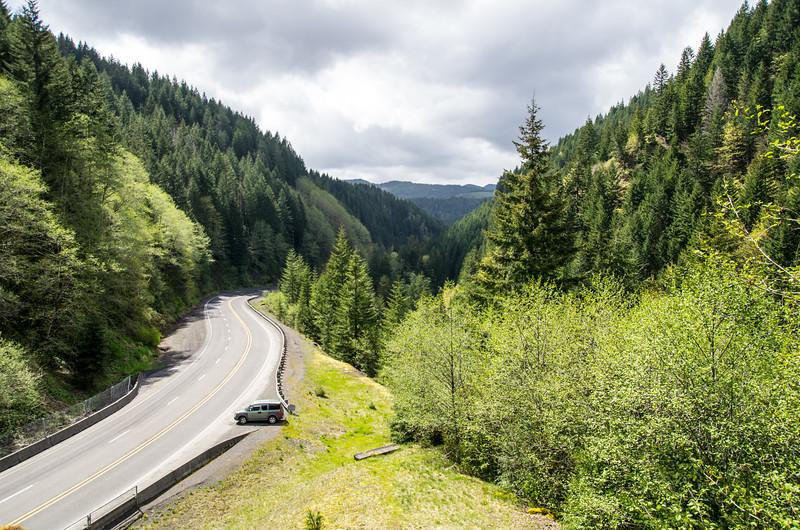 Wilson River Highway, just east of Tillamook, Oregon