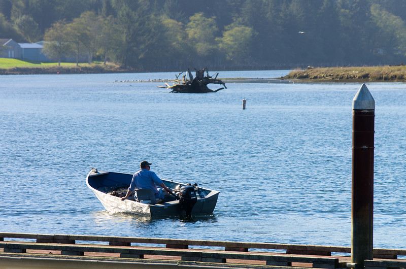 Boating in the Nehalem Bay, from Wheeler, Oregon