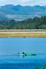 Kayak fishing in Nehalem Bay, from Wheeler, Oregon