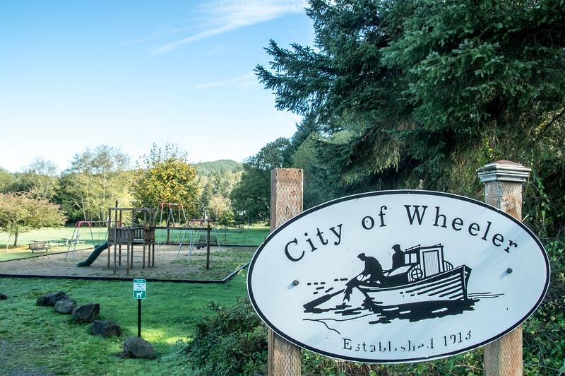 City of Wheeler public park in Wheeler, Oregon