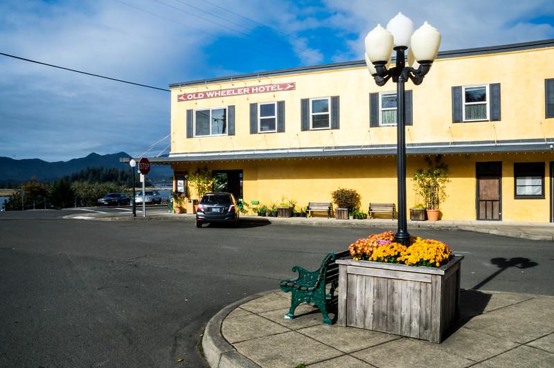 The Old Wheeler Hotel building, downtown Wheeler, Oregon