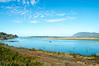 Nehalem Bay and Neahkahnie Mountain, as viewed from Highway 101 in Wheeler, Oregon