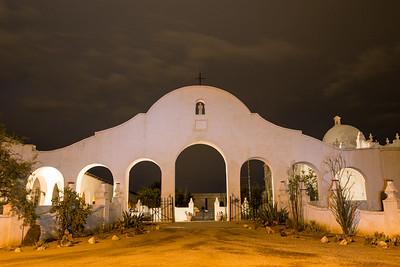 Mission San Xavier del Bac at night