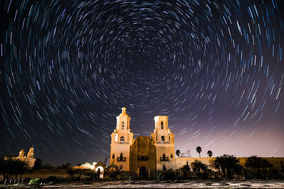 San Xavier Star Trails