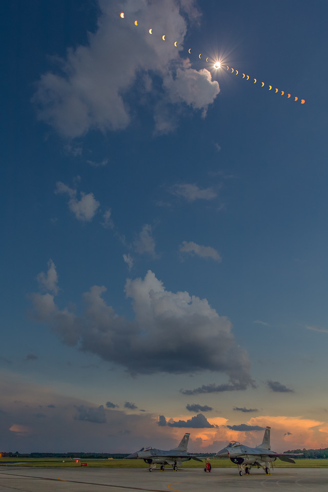 Total Solar Eclipse (August 21, 2017) from Shaw Air Force Base