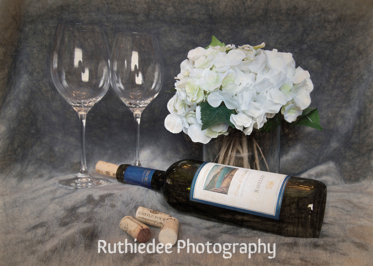 Wine and Hydrangeas~