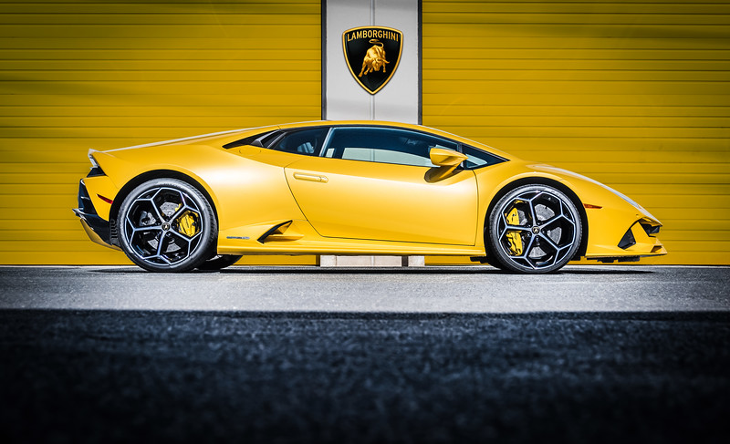 Lamborghini Huracan EVO in Gaillo Inti yellow with full body paint protection film wrap and ceramic coating by Exclusive Paint Protection in Charlotte, NC.