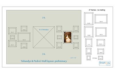 Yohandys & Pedro - wall layout