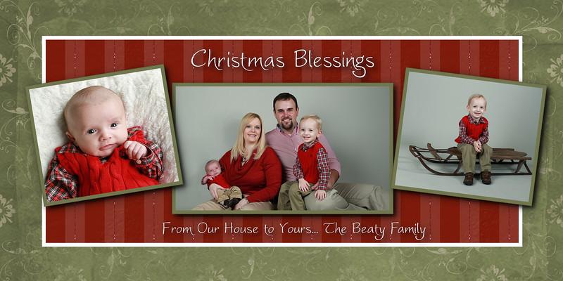 beaty 3 photo Christmas Blessings 4x8