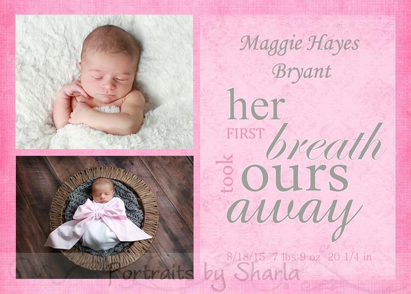Bryant 5x7 breath away card