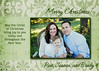 edmunds one photo green 5x7 card