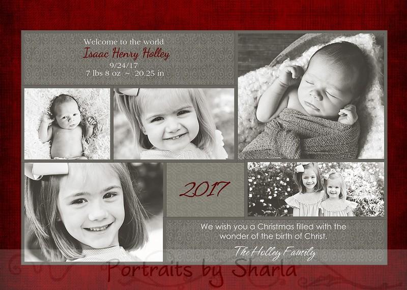 Holley 5 photo card 5x7