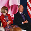 Anna Wintour and Michel Bloomberg
