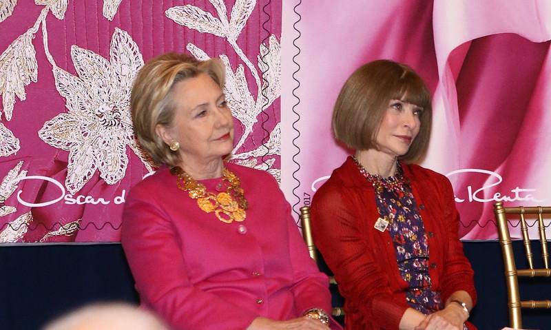 Hillary Clinton and Anna Wintour
