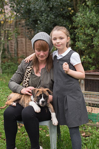 Tracey Sharpe and new puppy Tavi