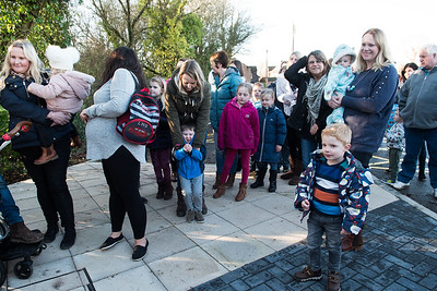Thakeham Preschool New building opening with a ribbon cutting and burying of a time capsule. Photography by Sophie Ward Photography 07973725886.